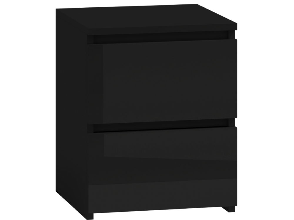 Moderna Black- 2 Drawer